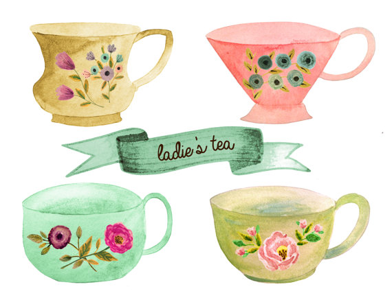 Tea Clipart, Tea Party Clipart, Tea Cup -Tea clipart, tea party clipart, tea cup clipart, tea pot clipart, tea set, tea  cups, tea party decor, shabby chic clipart from rosabebe on Etsy Studio-11