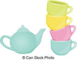 . ClipartLook.com Tea Set - Cups And Tea-. ClipartLook.com Tea set - cups and teapot - Scalable vectorial image.-15