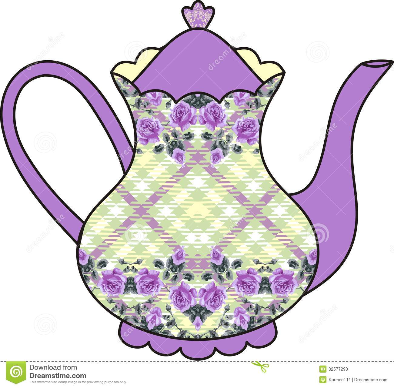 Tea Time Clip Art Floral Roses Teapot Ti-Tea Time Clip Art Floral Roses Teapot Time For-6