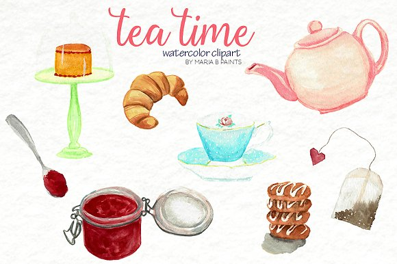Tea Time Clipart-Clipartlook.com-580