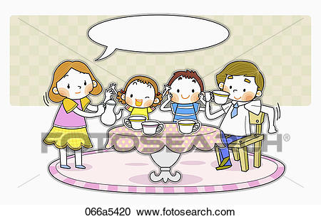 Happy Family Tea Time-Happy family tea time-4