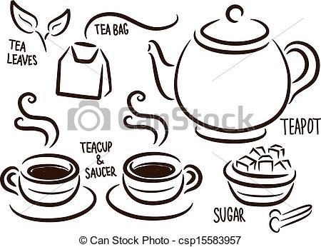 Set Of Tea Time Icon - Csp15583957-set of tea time icon - csp15583957-10