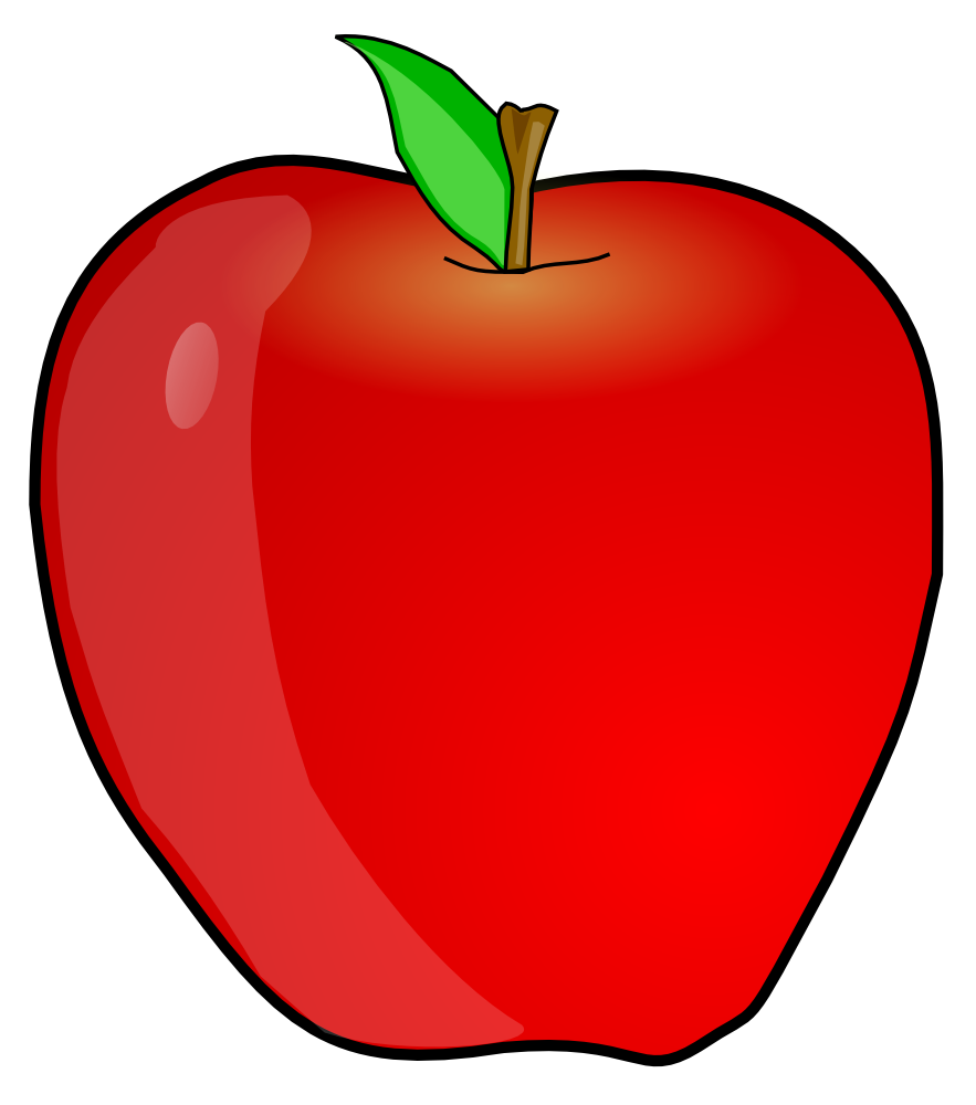 teacher apple clipart-teacher apple clipart-0
