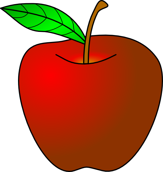 teacher apple clipart-teacher apple clipart-4