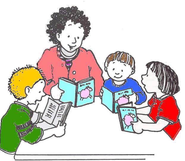 teacher reading clipart