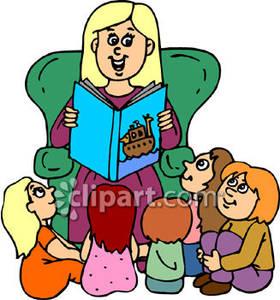 teacher reading to% .