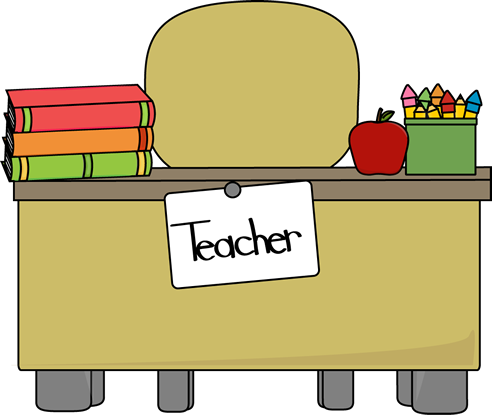 Teacheru0026#39;s Desk Clip Art - Teacheru0026#39;s Desk Vector Image