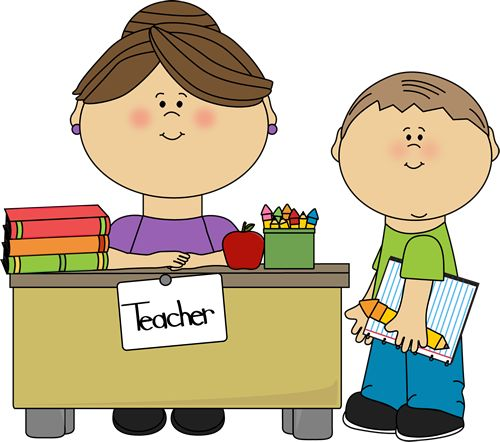 Teacher and Student Clip Art - Teacher a-Teacher and Student Clip Art - Teacher and Student Vector Image-9