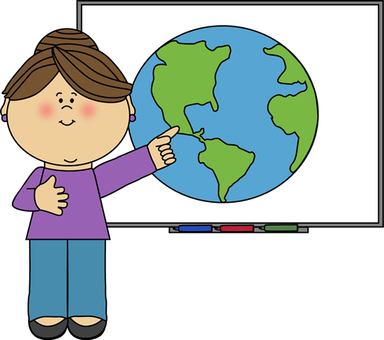 Teacher at Smartboard - Teachers Clipart
