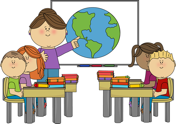 Teacher at Smartboard with Class Clip Art - Teacher at Smartboard