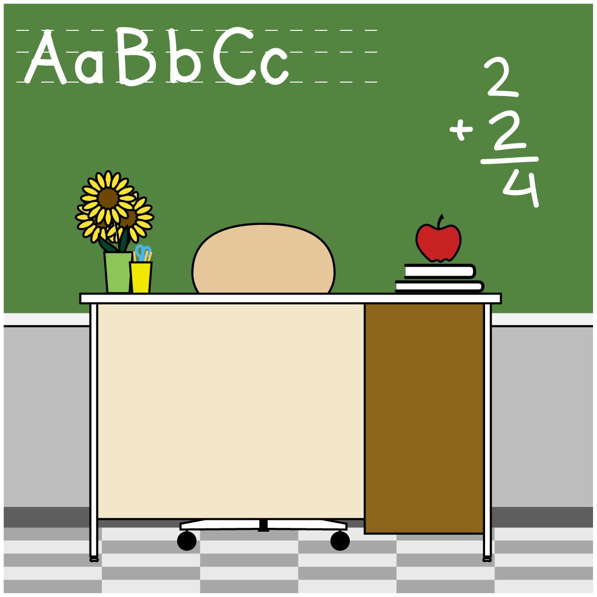 Teacher Desk Clipart u0026middot; School-Teacher Desk Clipart u0026middot; School/Educational Clip Art-14