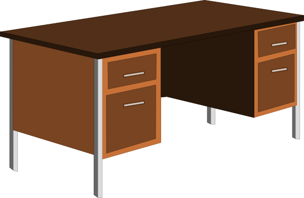 Teacher Desk Clipart