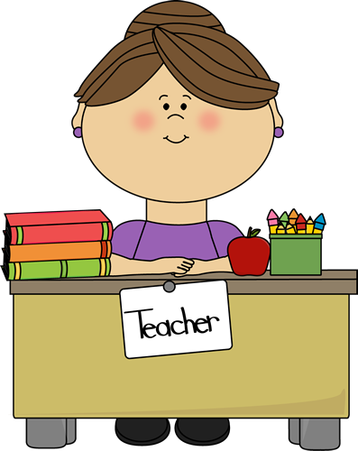 Teacher Sitting at a Desk