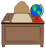 teachers desk .