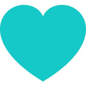 Teal Heart clip art