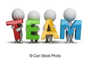 3d Small People - Team - 3d Small People-3d small people - team - 3d small people holding hands in.-0