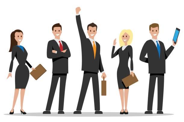 Business Team People Vector Art Illustra-Business team people vector art illustration-2