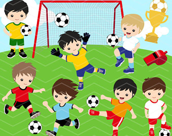Instant Download Soccer Boy Digital Clip-Instant Download Soccer Boy Digital Clipart, Soccer Boys Clip Art, Digital  Soccer Team Clipart-7