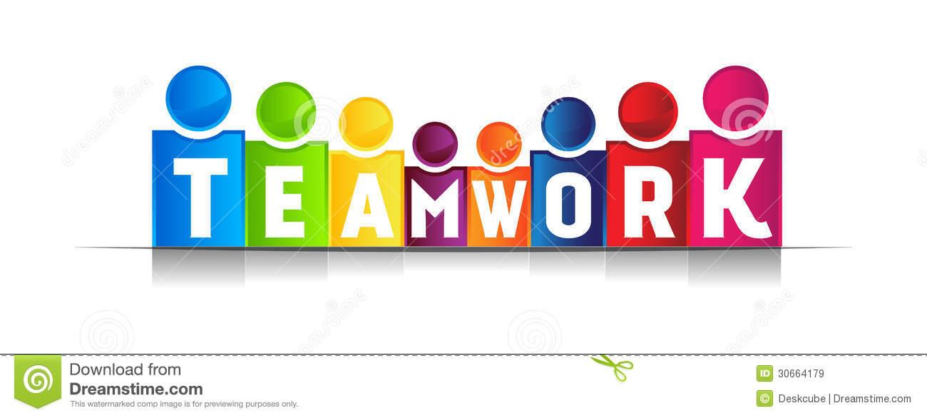 Teamwork concept word
