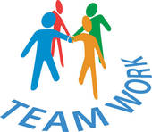 Teamwork u0026middot; Collaboration people join hands Teamwork