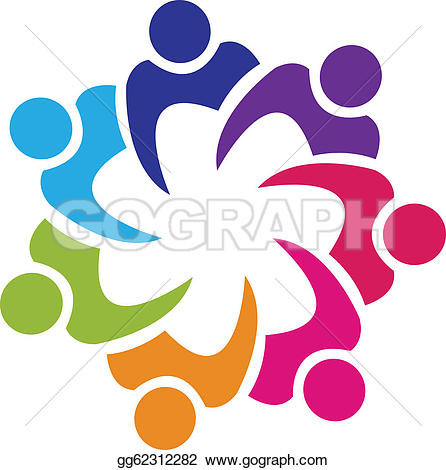 Teamwork typography u0026middot; Teamwor-Teamwork typography u0026middot; Teamwork union people logo vector-6