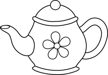Teapot clip art 2