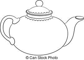 ... Teapot, Contour - China Round Teapot-... Teapot, contour - China round teapot with a cover, graphic.-14