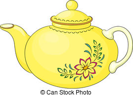 ... Teapot With Pattern - China Yellow T-... Teapot with pattern - China yellow teapot with a pattern.-18