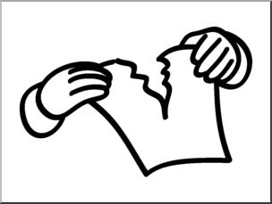 Clip Art: Basic Words: Tear 1 Bu0026W Unlabeled I abcteach clipartlook.com - preview