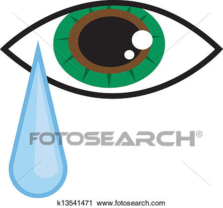 Clipart - Eye Tear . Fotosearch - Search Clip Art, Illustration Murals,  Drawings and