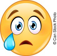 . ClipartLook.com crying face emoticon with tear