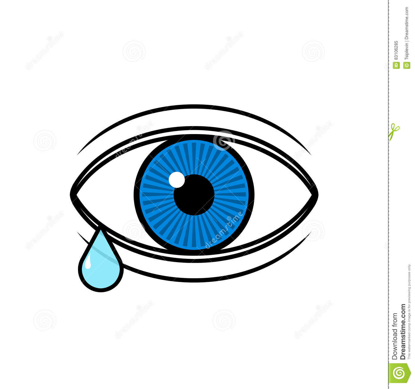. ClipartLook.com Incredible Design Tear Clipart Eye With A Illustration Stock Of ClipartLook.com
