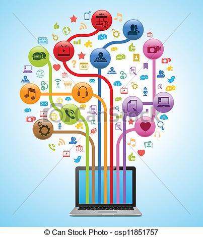 ... Technology App Tree - Vector Illustr-... Technology App Tree - Vector Illustration of a technology.-15