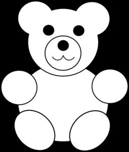 Teddy Bear Clipart Black And White-teddy bear clipart black and white-11