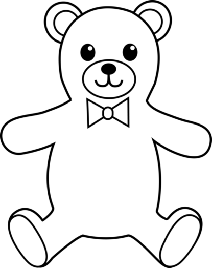 Teddy bear black and white teddy bear clipart black and white clipartfox