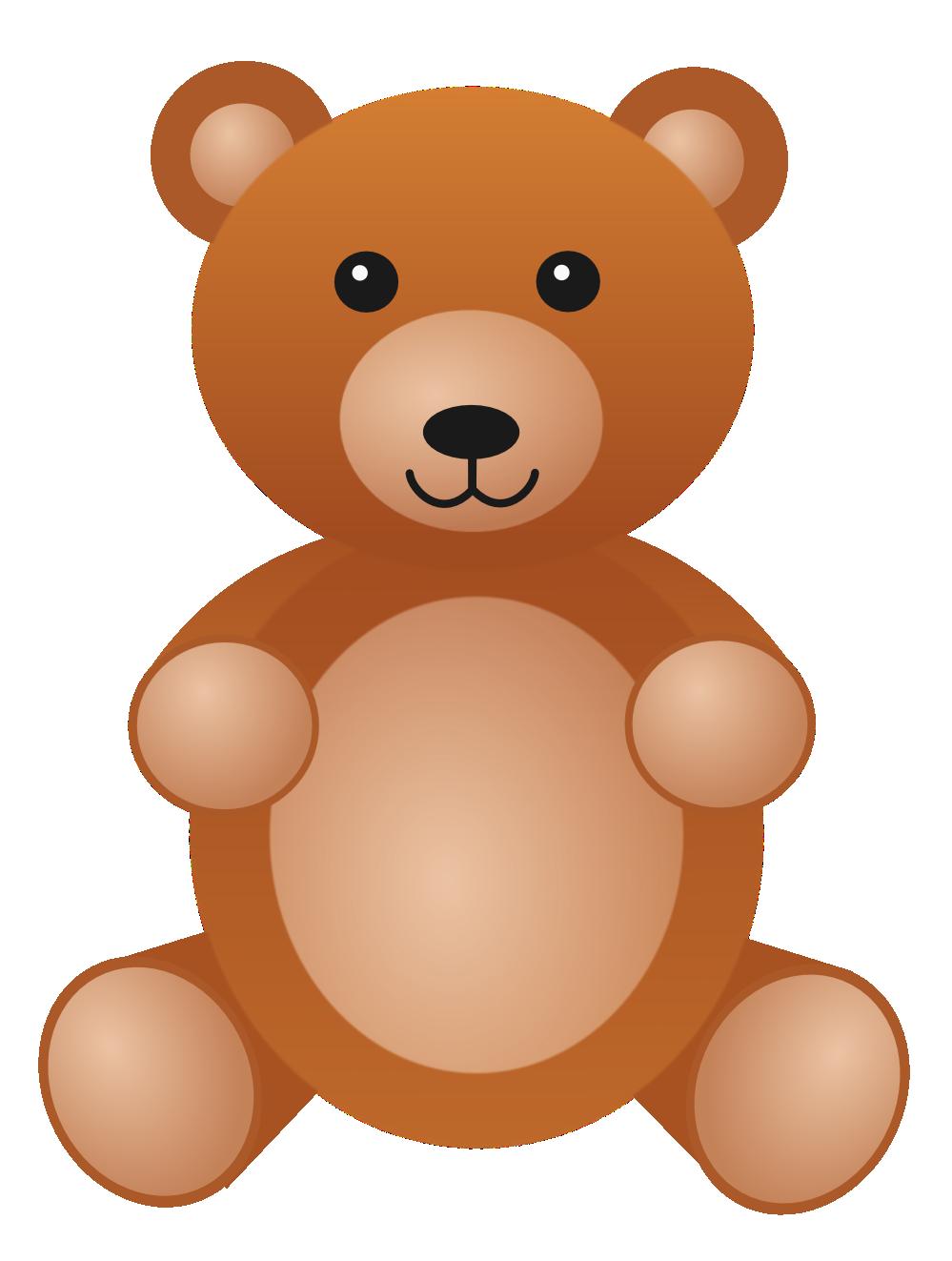 Teddy Bear Clip Art #12121-Teddy Bear Clip Art #12121-4