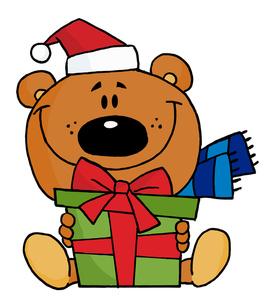 Teddy Bear Clip Art Images Te - Cute Christmas Clip Art