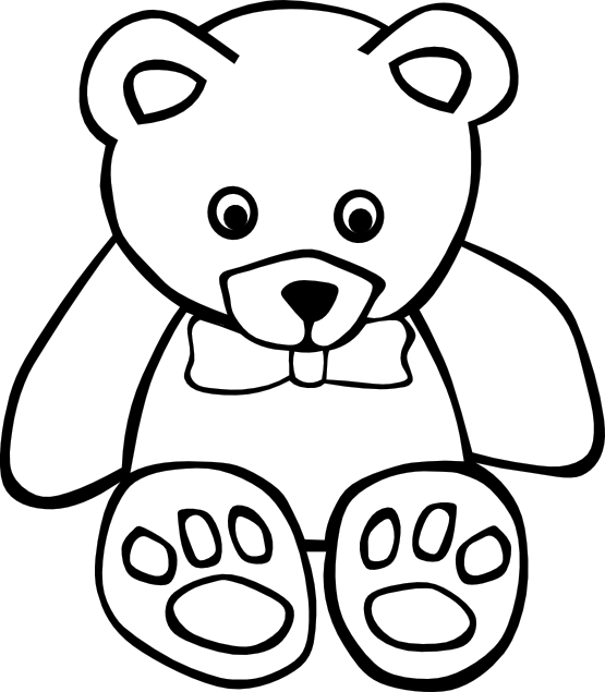Teddy Bear Clipart Black And White | Clipart library - Free Clipart