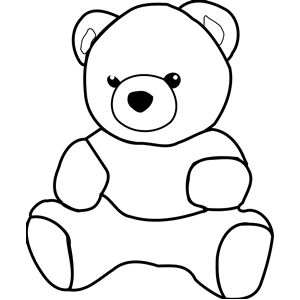 ... Teddy bear clipart black and white ...