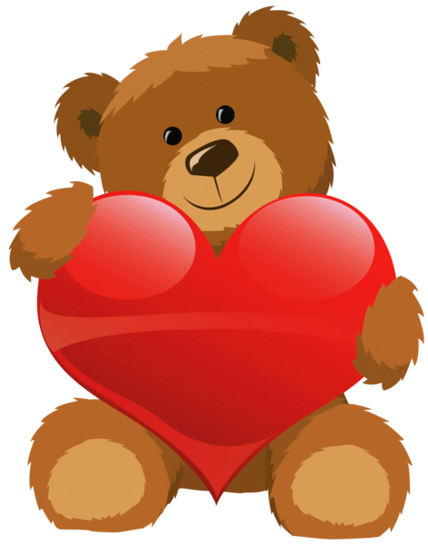 Blue teddy bear png, Cute Bear with Heart PNG Clipart ClipartLook.com