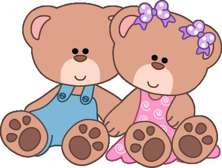 Cute Teddy Bear Clip Art | Baby Girl Teddy Bear Clip Art Girl u0026 boy bears  sitting