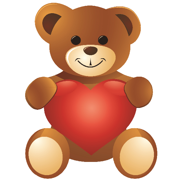 Image result for standing valentineu0027s day teddy bear clipart