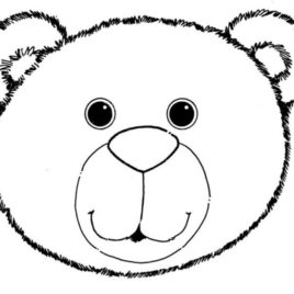 Teddy Bear Face Template Clipart Free To Use Clip Art Resource