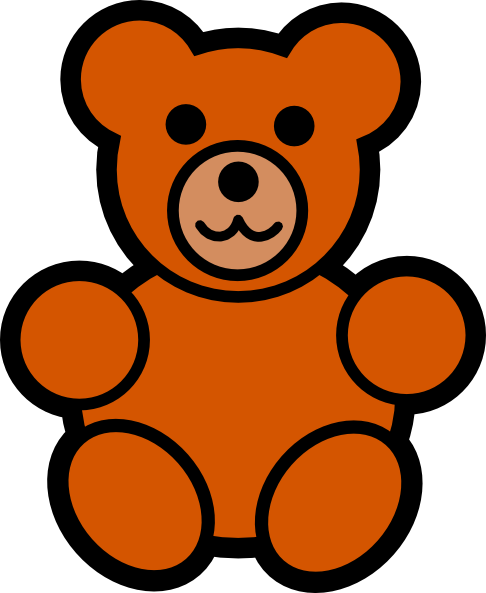 Teddy bear outline clipart free clipart images 3