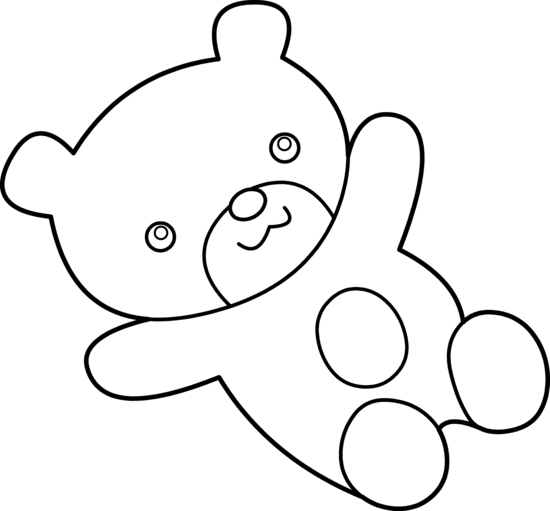 Teddy bear pic black and white teddy clip art clipartcow