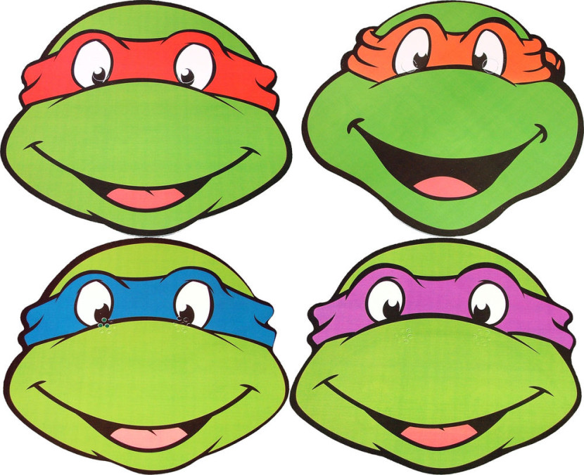 Teenage Mutant Ninja Turtles Faces Clipart Free Clipart