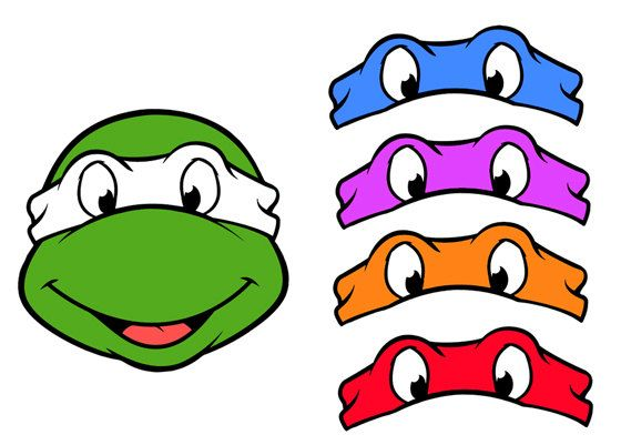 Teenage Mutant Ninja Turtles Free Printed Masks