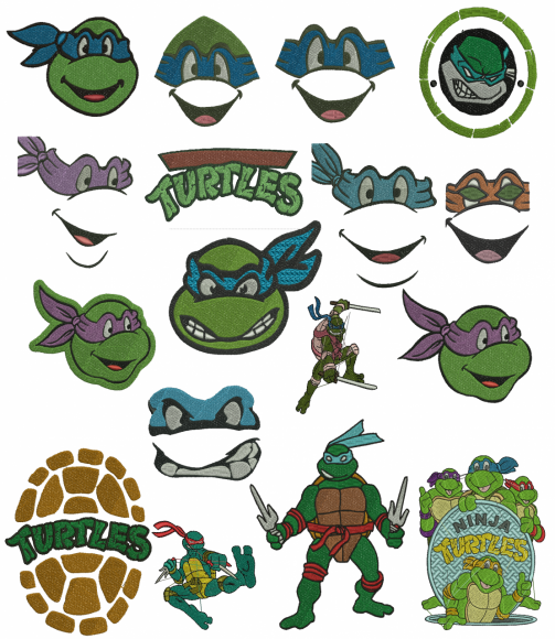 Teenage Mutant Ninja Turtles Machine Embroidery Designs Clipart