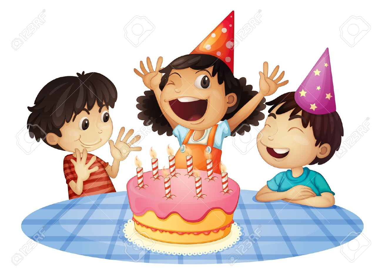 teenagers party: Young kids a - Birthday Party Clipart