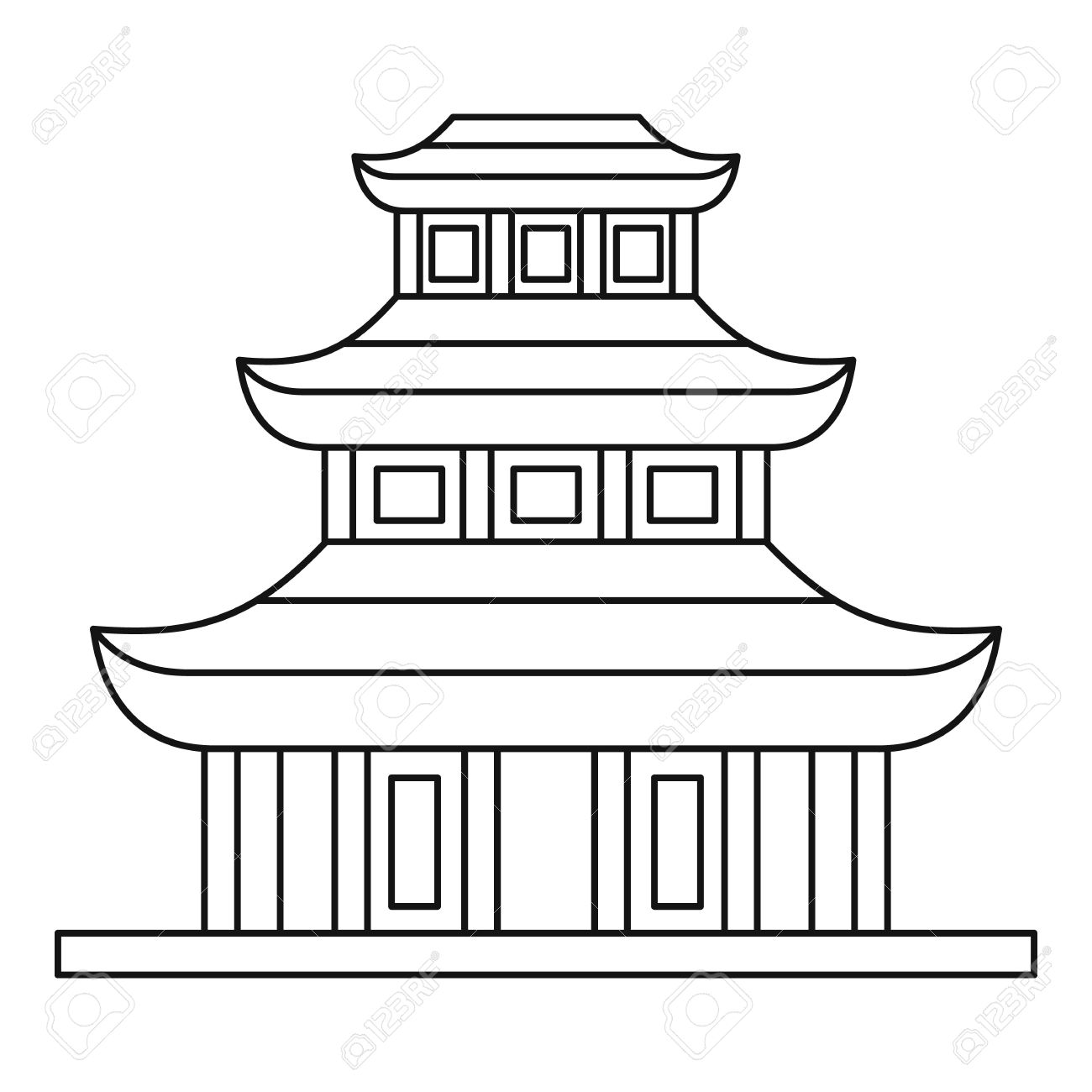 Buddhist Temple Clipart Black And White - ClipartFest | Buddhist .